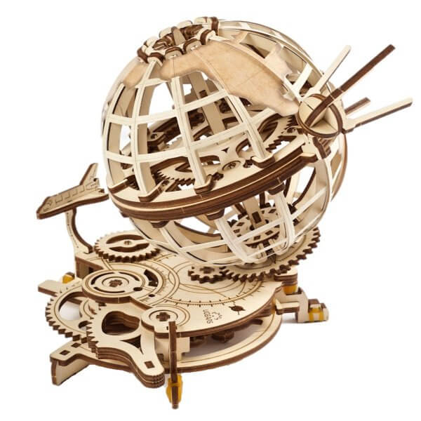 UGears Mechanical Wooden Model 3D Puzzle Kit Globus