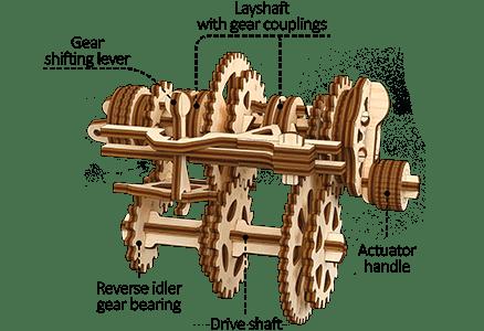 UGears STEM LAB Gearbox 1