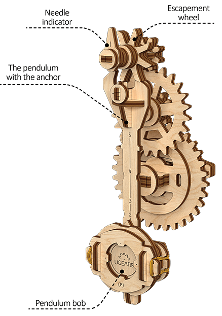 UGears STEM LAB Pendulum wooden puzzle and construction kit | Ugears Mechanical Model 1