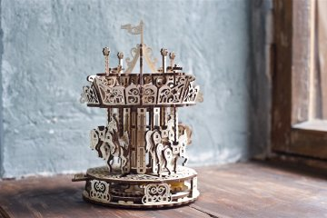 UGears Carousel: one of the most exquisite puzzles by UGears 3