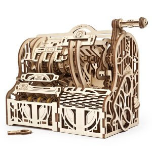 UGears Mechanical Wooden Model 3D Puzzle Kit Cash Register