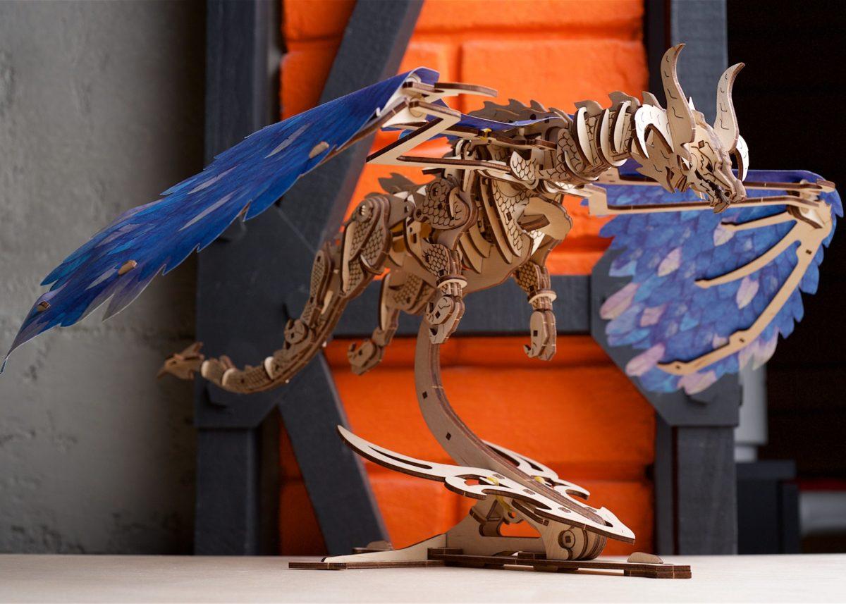 New mechanical marvel – Ugears Windstorm Dragon - UGears USA 3