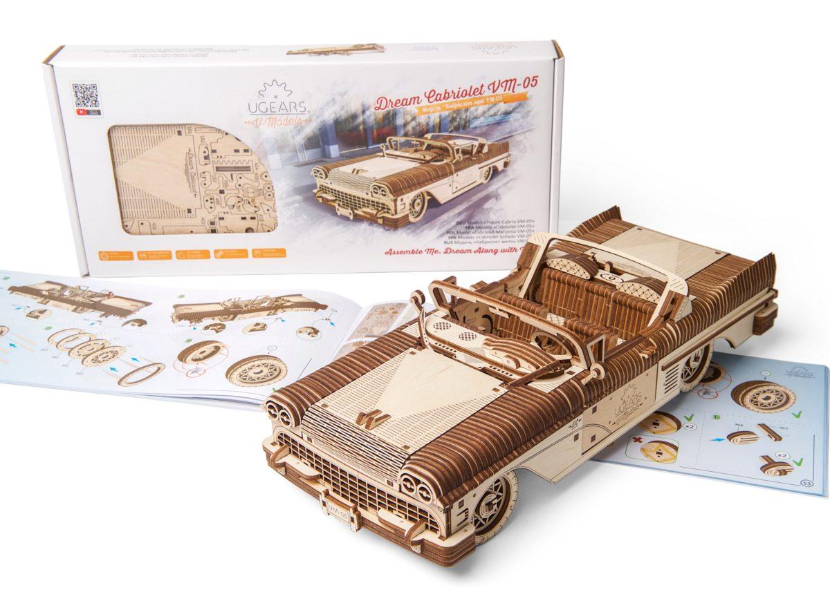 The mechanical model Dream Cabriolet VM - 05 - UGears USA 1